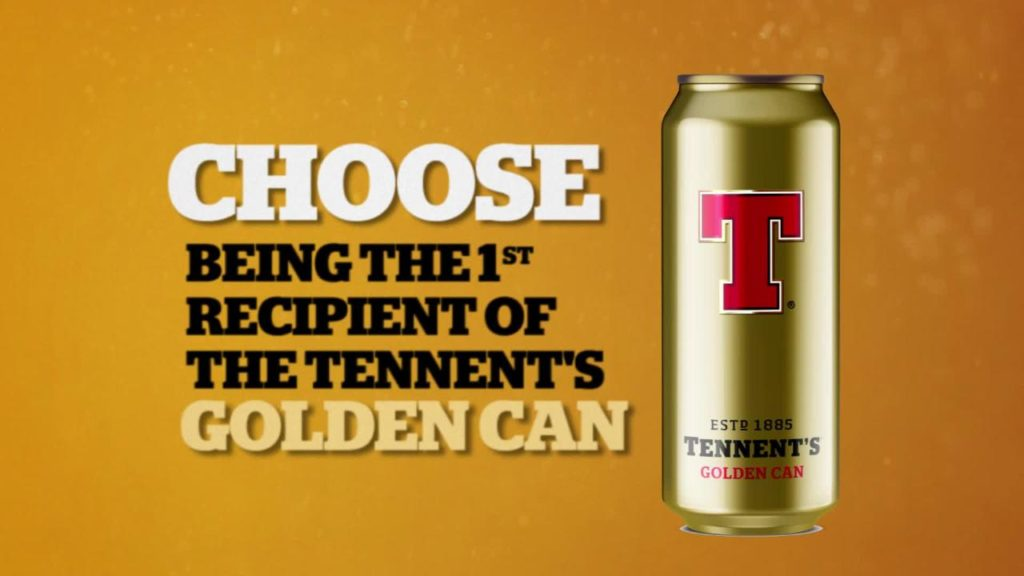 tennent's golden can
