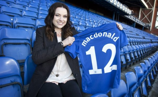Amy Macdonald blames Tommy Wright for her husband's departure from St Johnstone.