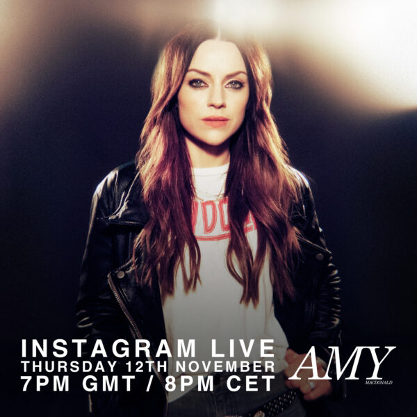 Amy announced on Twitter a live with her followers on November 12th at 7pm