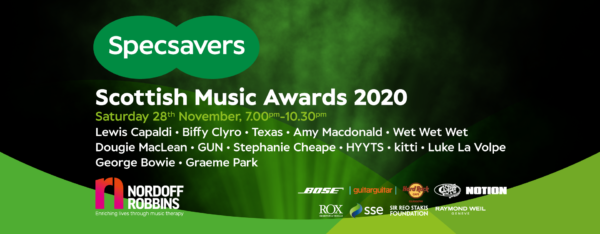 De Scottish Music Awards vinden plaats op 28 november 2020
